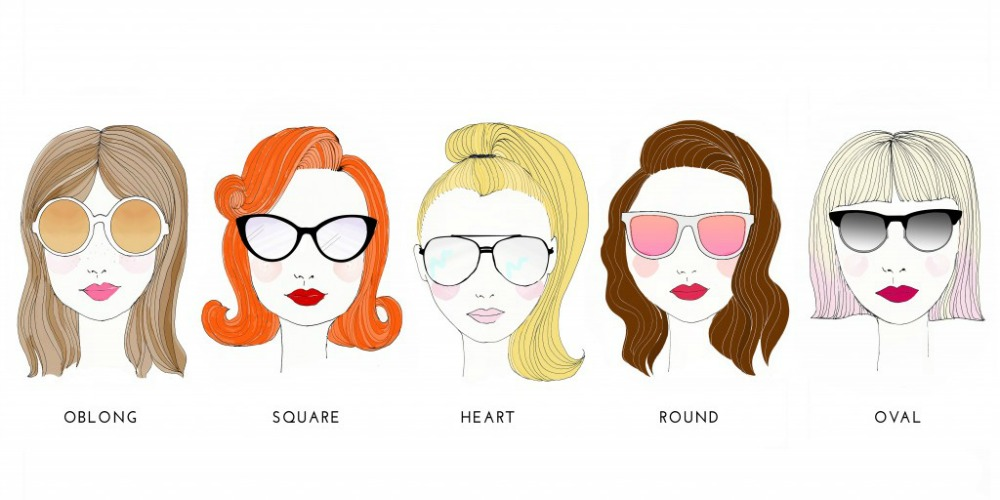 Face Type Sunglasses  style tips your face shape equals your sunglasses style glam