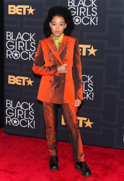 NEWARK, NEW JERSEY - APRIL 01: Actress and Young, Gifted & Black Award recipient Amandla Stenberg attends BET Black Girls Rock! 2016 at New Jersey Performing Arts Center on April 1, 2016 in Newark, New Jersey. (Photo by Gilbert Carrasquillo/FilmMagic)