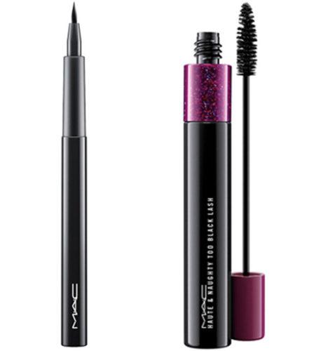mac eyeliner & mascara