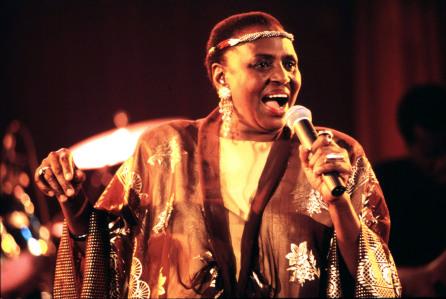 Mandatory Credit: Photo by Guido Fua/REX/Shutterstock (817116c) Miriam Makeba Miriam Makeba in concert, Rome, Italy - 01 Mar 1993