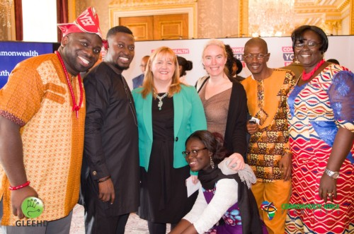 Commonwealth Secretariat Director of Youth Division Kathryn Ellis and CAS 2016 Delegates (Medium)