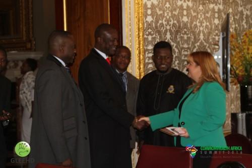 Commonwealth Secretariat Director of Youth meets Commonwealth Africa Goodwill Ambassador at Maroborough House (Medium)