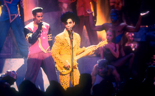 Prince performs at the 1991 MTV Video Music Awards Held in Los Angeles, CA on September 5, 1991. Photo by Frank Micelotta/Getty Images