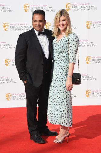 House+Fraser+British+Academy+Television+Awards-Krishnan Guru-Murthy and Lisa Guru-Murthy attend