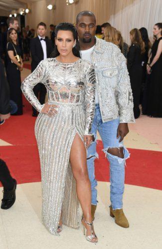 Kim Kardashian in Balmain Kanye West IN Fear of God