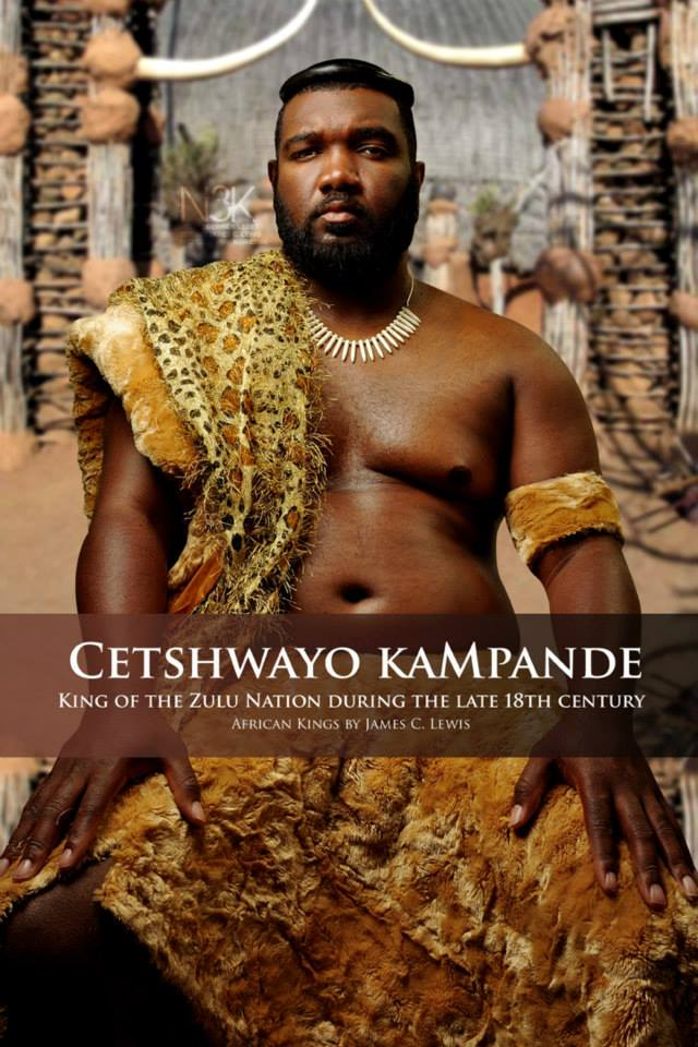 Cetshwayo kaMpande (1826 – 1884) was the King of the Zulu Nation from 1872 to 1879 and its leader during the Anglo-Zulu War of 1879. He famously led the Zulu nation to victory against the British in the Battle of Isandlwana. | model: Derrick Ledet | stylist & photographer: James C. Lewis — with Marlene William-Elisha.