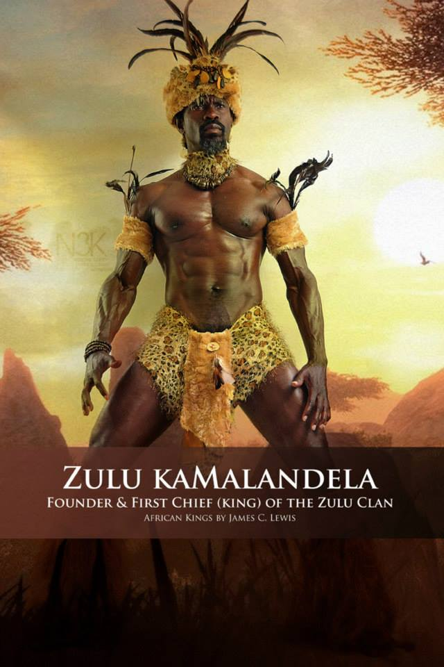 Zulu kaMalandela (1627-1709), son of Malandela, was the founder and Chief (King) of the Zulu clan which came from the Nguni people. In the Zulu language, Zulu means heaven. | model: Amistad W. Carty | stylist & photographer: James C. Lewis — with GianPiermaria Barbieri and Marlene William-Elisha.