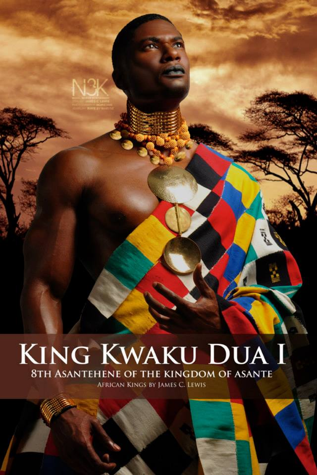 Kwaku Dua I (1797 – 1867), was the eighth Asantehene of the Kingdom of Ashanti (King of the Asante. In 1834, King or Asantehene Kwaku Dua I of the Kingdom of Asante succeeded Osei Yaw Akoto to throne as the King of Asante. On 18 March 1837, Asantehene Kwaku Dua I of the Kingdom of Asante signed a contract between him and King William I of the Netherlands. These recruits would become known as Belanda Hitam. As part of the deal, two Asante Royal Princes, Kwasi Boakye and Kwame Poku accompanied the Dutch back to The Netherlands, where they were to receive a Dutch education. Model: Marvin Montgomery | Wardrobe & Jewelry: Maryse M'bo Ako | stylist & photographer: James C. Lewis — with GianPiermaria Barbieri and Marlene William-Elisha.