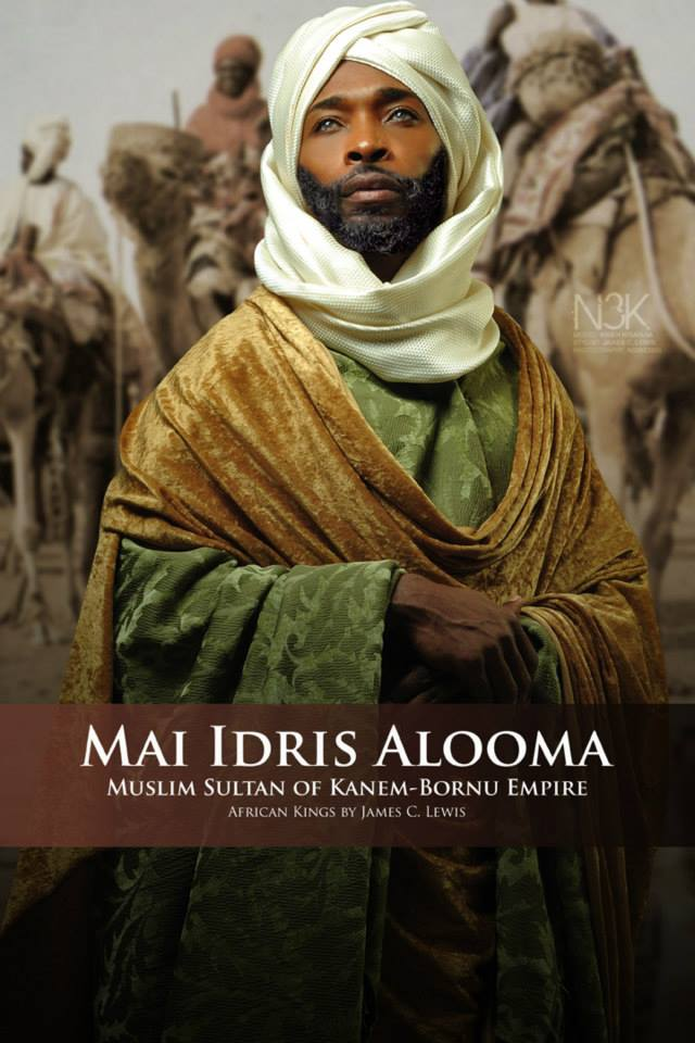 Idris Alooma (1580–1617) was Mai (king) of the Kanem-Bornu Empire, located mainly in Chad, Cameroon and Nigeria. His name is more properly written Idris Alawma or Idris Alauma. An outstanding statesman, under his rule (1564–1596) Kanem-Bornu touched the zenith of its power. Idris is remembered for his military skills, administrative reforms and Islamic piety. His feats are mainly known through his chronicler Ahmad bin Fartuwa. | Model: Kineh N'gaojia | stylist & photographer: James C. Lewis — with Ashley Jordan, Atlanta Happenings, GianPiermaria Barbieri, Incrowd Atlanta, tyler Perry, Playwrights Atlanta, Maurice Milles Mansa, Jibril Haynes, Salone OnBlast, Atlanta LookBook, Atl Pics, Jamie Cox and Marlene William-Elisha.