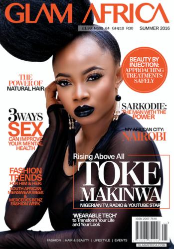 1 Cover Glam africa Toke Makinwa