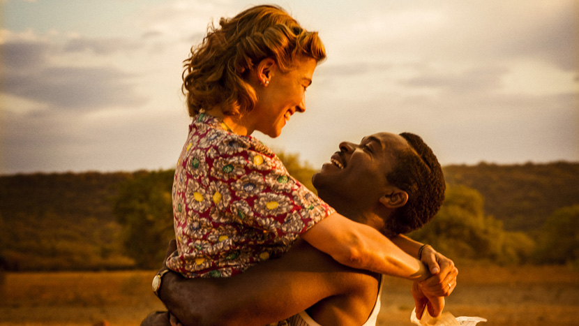 """""""A United Kingdom"""" as part of the BFI's Opening Night Gala. Staring David Oyelowo, Rosamund Pike. A United Kingdom is a powerful testament to the defiant and enduring love story of Seretse Khama, King of Bechuanaland (modern Botswana) and Ruth Williams, the London office worker he married in 1948 in the face of fierce opposition from their families and the government of the time."""