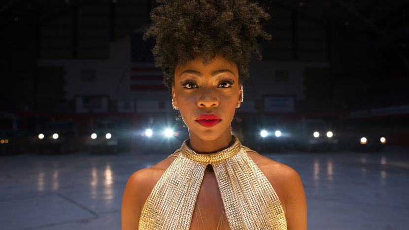 """""""Chi-Raq"""" A Sonic Gala. Staring With Nick Cannon, Teyonah Parris, Wesley Snipes, Angela Bassett, Samuel L Jackson, John Cusack. Spike Lee is back on the rampage and the result is this dazzling, rage-fuelled, in-your-face hip-hop musical that re-purposes Aristophanes' Lysistrata – a comedy about a Greek heroine who leads a sex-strike to prevent war – setting it in Chicago's South Side."""