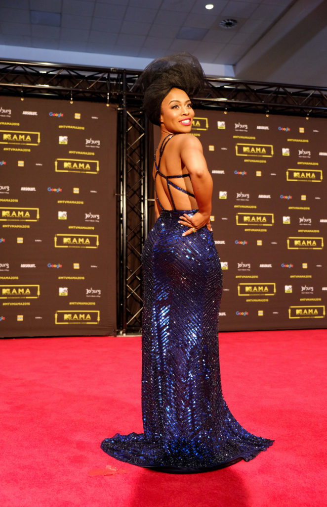 Nomzamo Mbatha at the red carpet during the MAMA 2016, in Johannesburg, South Africa on October 22nd, 2016