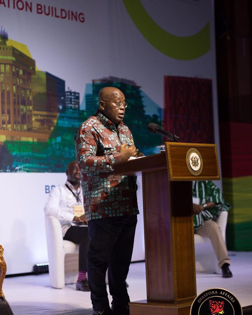 His Excellency Nana Addo Dankwa Akufo-Addo, President of the Republic of Ghana. DIASPORA CELEBRATION & HOMECOMING SUMMIT 2019