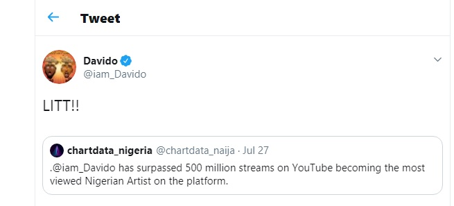 Afrobeat Singer Davido Has Become The Most Viewed Nigerian