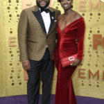 Mj Rodriguez and Anthony Anderson at Emmy Awards 2019.