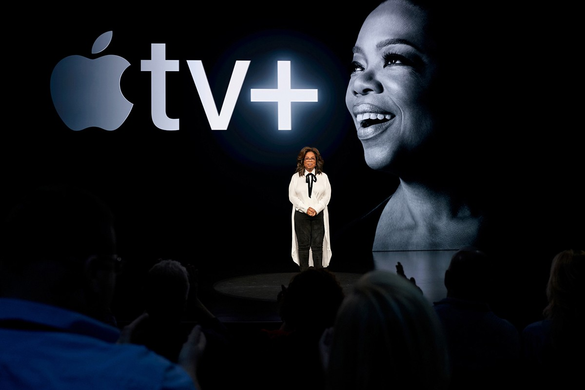 Oprah is teaming up with apple Tv