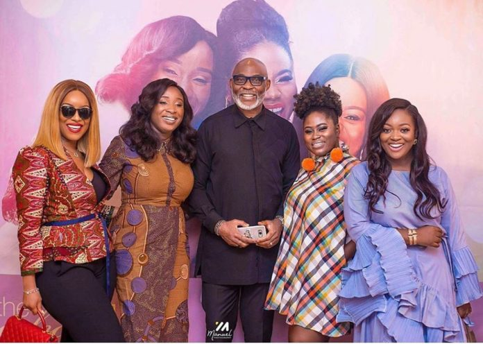 Cast of The Perfect Picture, Joselyn Dumas, Naa Ashorkor Mensah-Doku, Richard Mofe-Damijo (RMD), Lydia Forson and Jackie Appiah