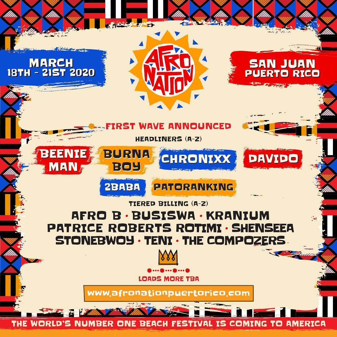 Afro Nation Puerto Rico Announces Initial List Of Performers