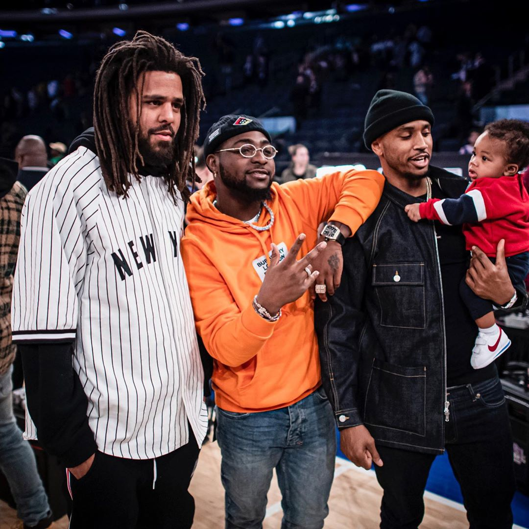 Davido Spotted With J. Cole, Trey Songz & Ellen Pompeo