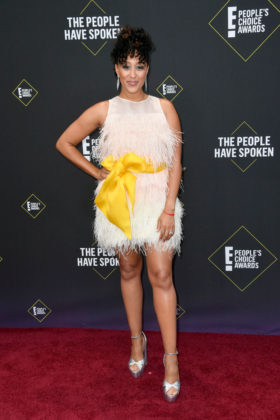 Tamera Mowry-Housley At E! People's Choice Awards 2019 red carpet.