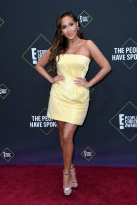 Adrienne Houghton At E! People's Choice Awards 2019 red carpet.