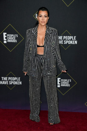 Kourtney Kardashian At E! People's Choice Awards 2019 red carpet.