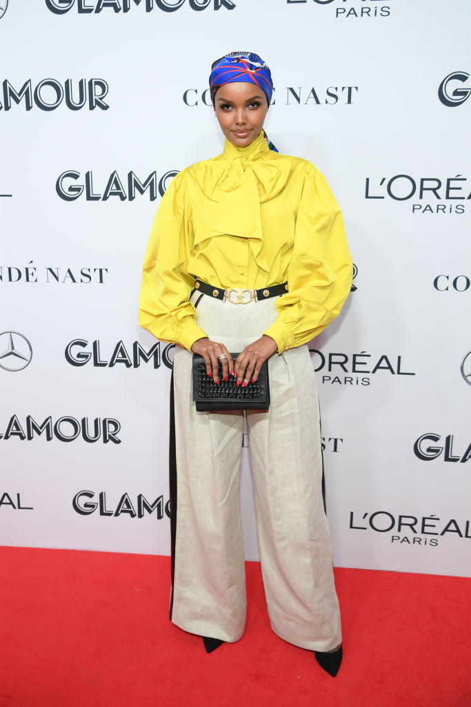 Halima Aden oat Glamour Women Of The Year Awards 2019
