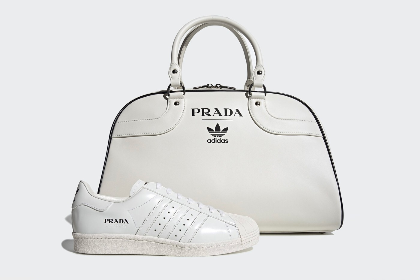 Superstar & Bowling Tote Bag Collection by Prada and Adidas.
