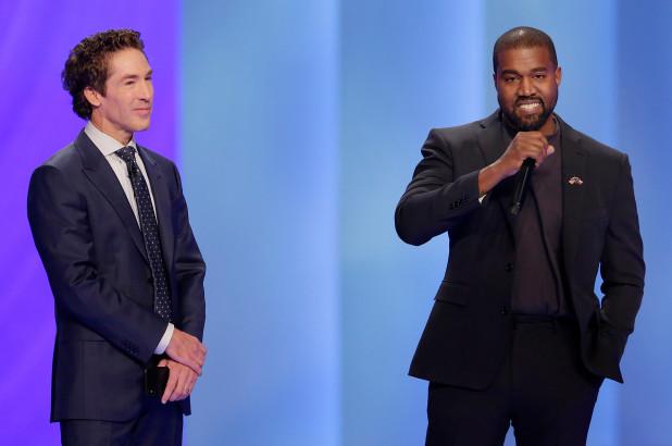 Joel Osteen Hosts Kanye West AtLakewood Church