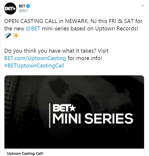 BET Announces New Miniseries 'Uptown'