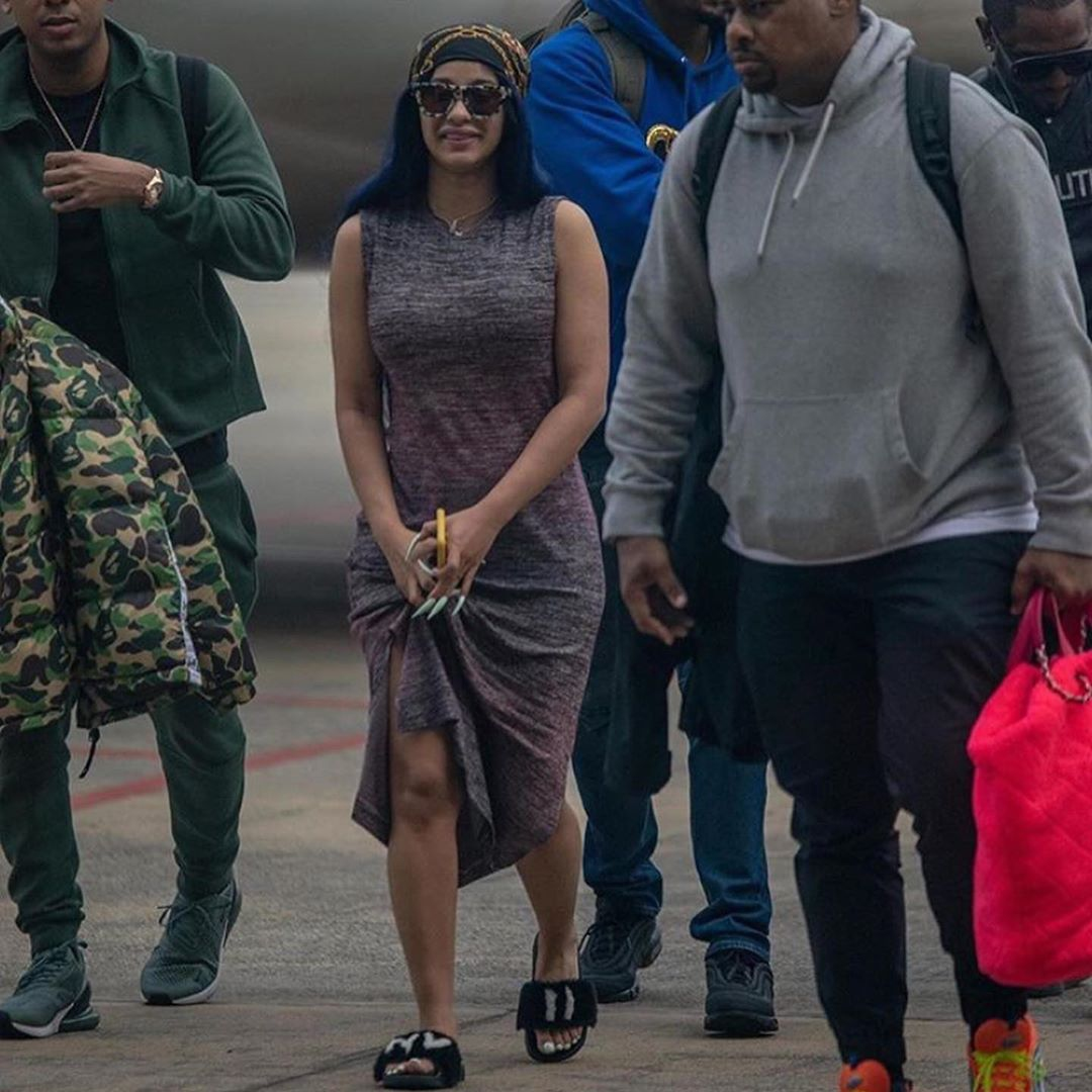 Cardi B Arrives In Nigeria