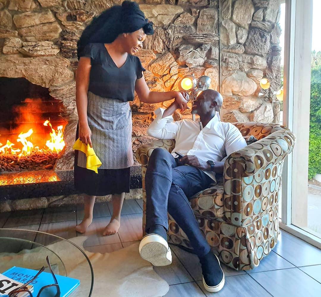 Djimon Hounsou and Yemi Alade