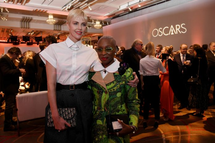 Charlize Theron & Cynthia Erivo at Oscars 2020 Luncheon