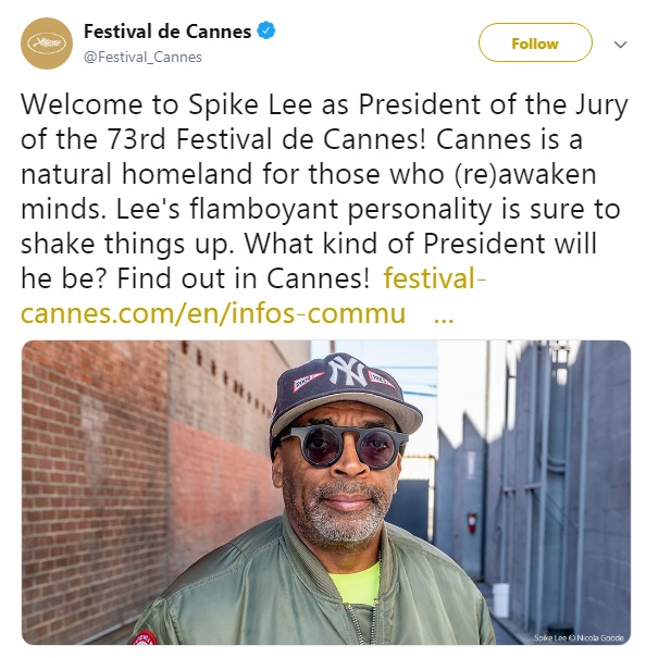 Spike Lee Becomes First Black Filmmaker To Head Cannes Film Festival Jury