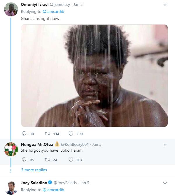 Twitter reacts to Cardi B's tweet