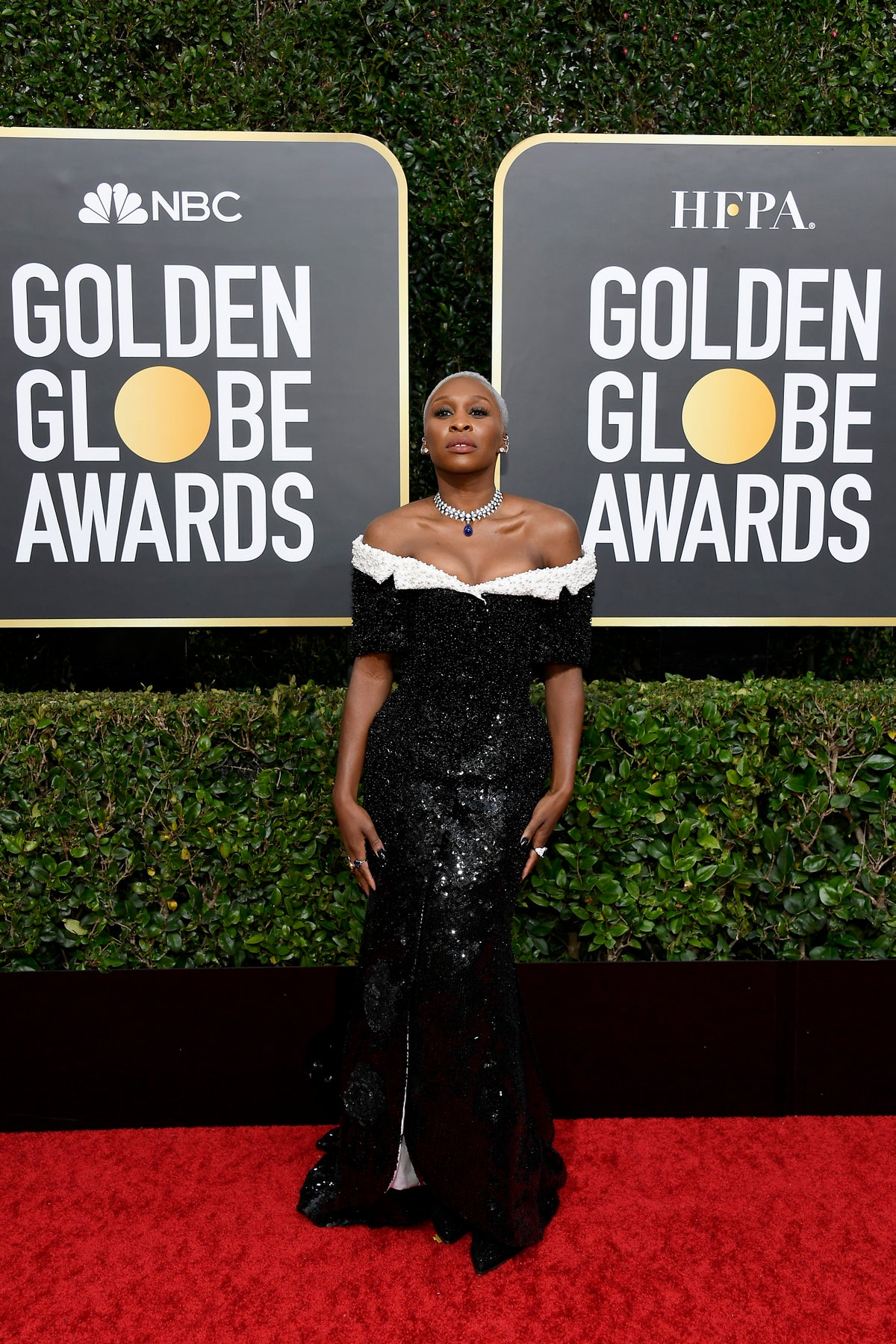 Cynthia Erivo on the Golden Globes 2020 red carpet