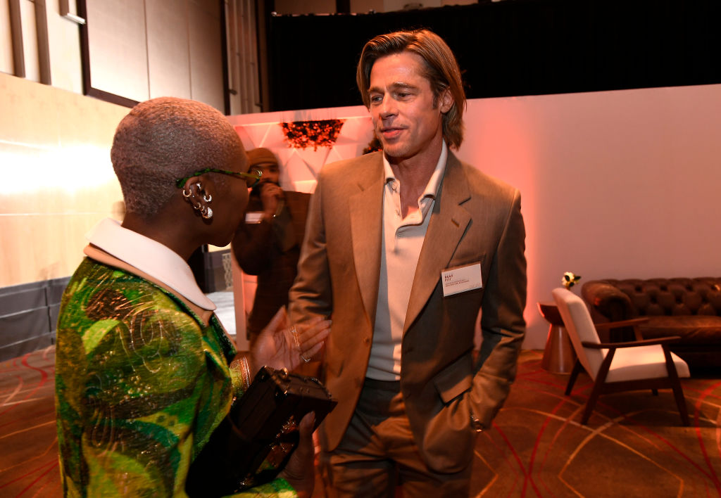 Cynthia Erivo and Brad Pitt