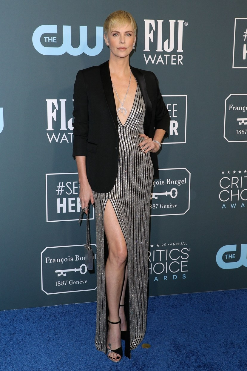 Charlize Theron on the red carpet at Critics' Choice Awards 2020