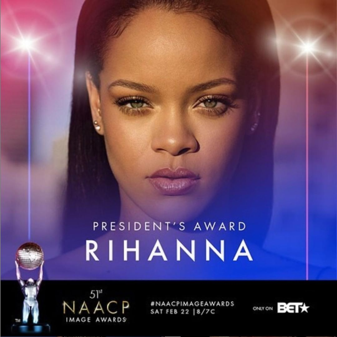 Rihanna To Be Honoured With NAACP President's Award