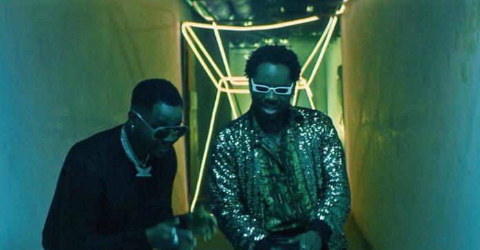 Adekunle Gold and Kizz Daniel in the video for Jore