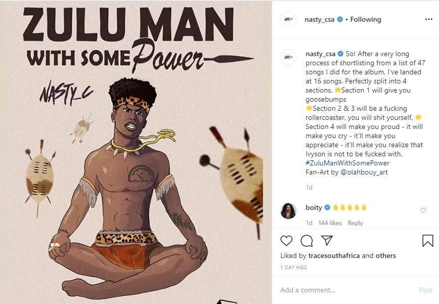 Nasty C Shares Details On Forthcoming Album 'Zulu Man with some Power'