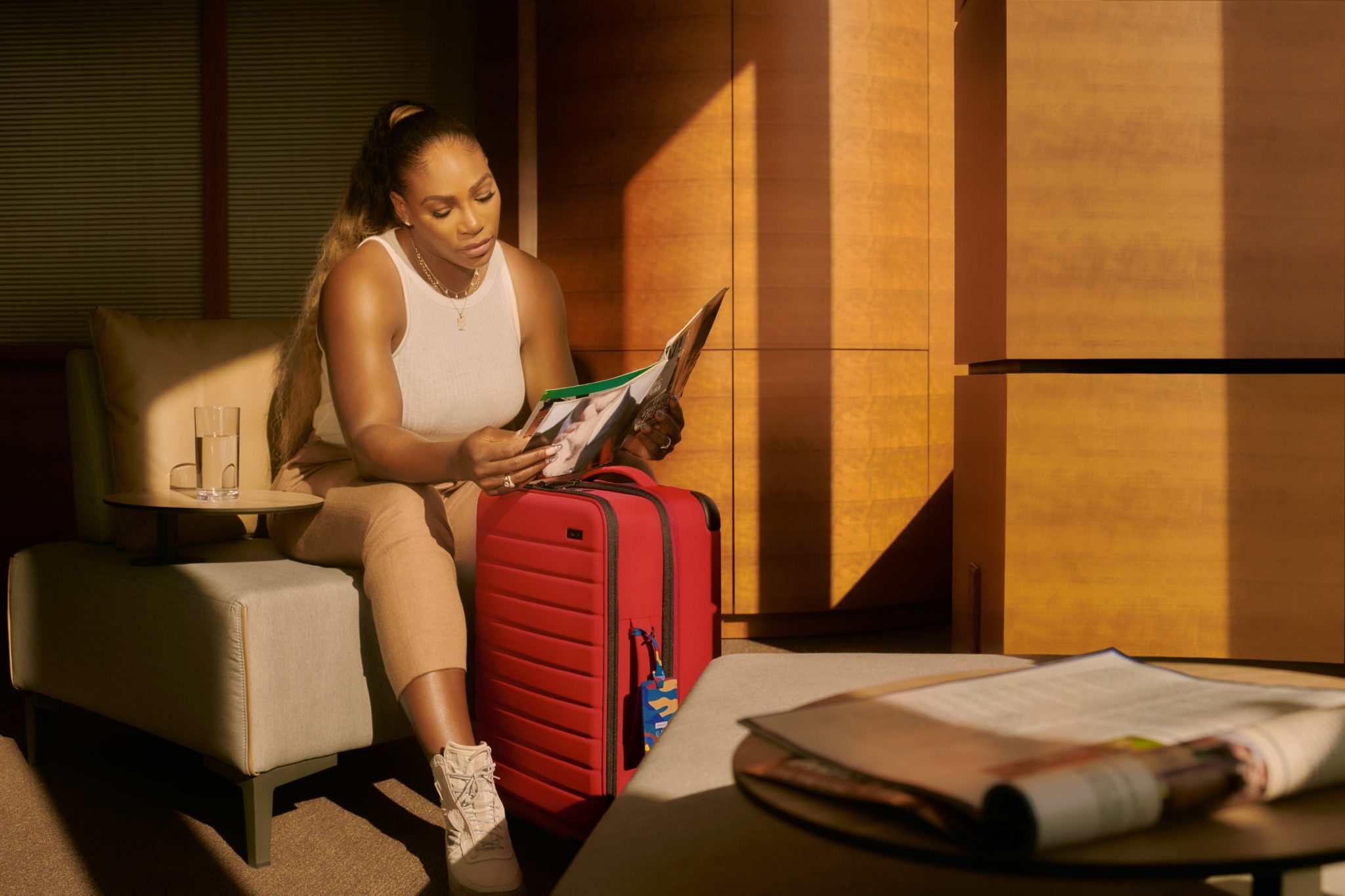 Serena Williams Co-Designed New Travel Collection With Away Brand