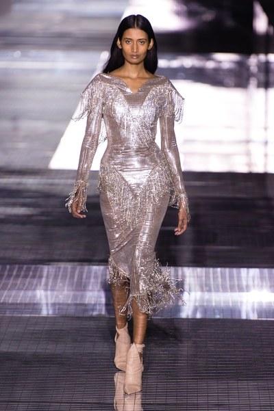 South African Model Xia Narain Closes Burberry At London Fashion Week