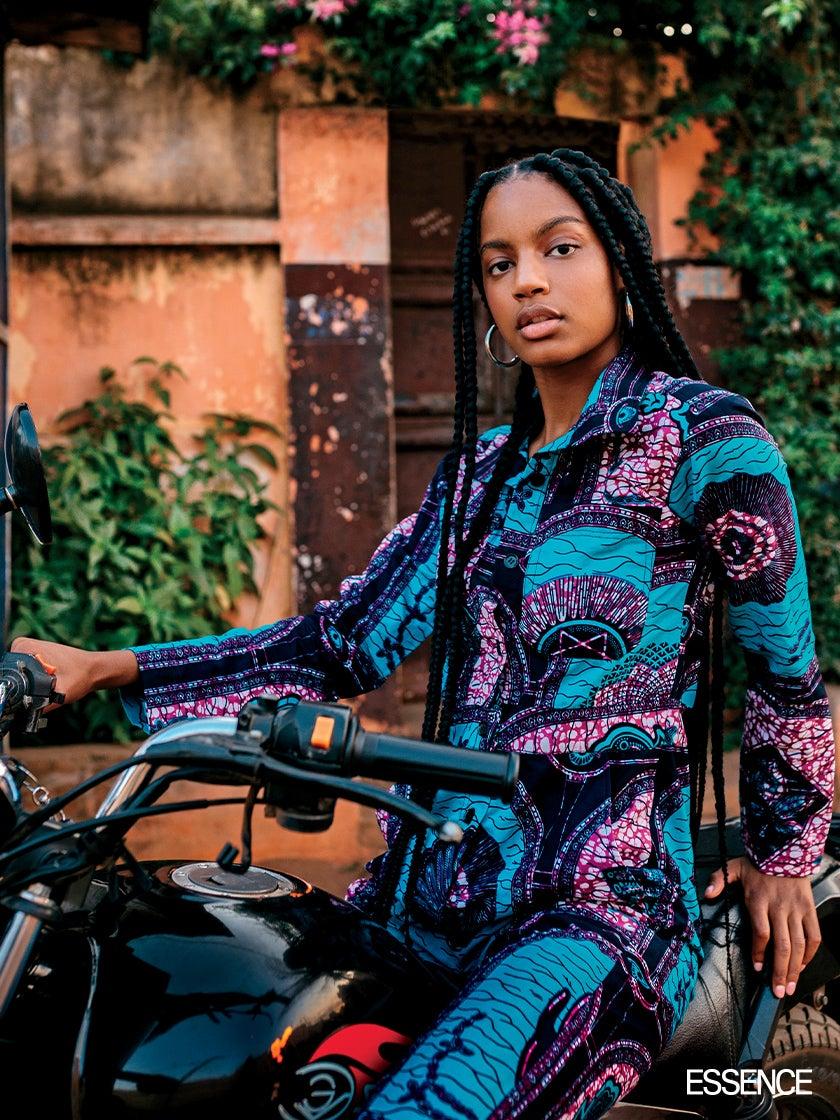 Ebonee Davis Falls In Love With Ankara Print Again After Visiting Ghana